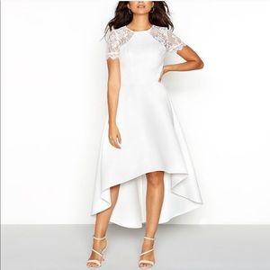Chi Chi London Mears Dip Hem Dress